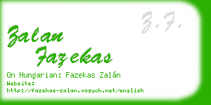 zalan fazekas business card